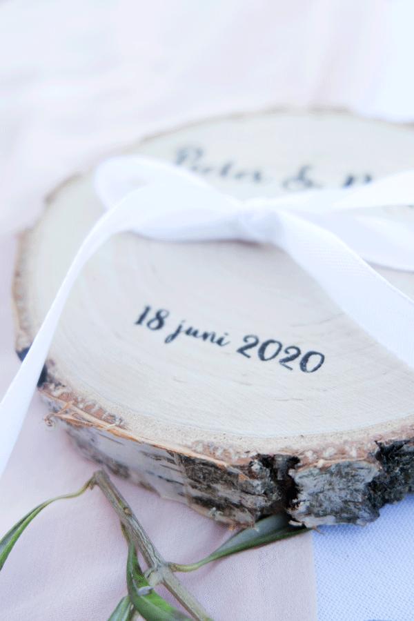 houten ringenschijf sierlijk
