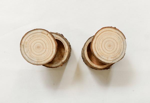 klein houten ringendoosje set