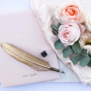 Klassieke Gastenboek bruiloft gastenboeken Roze