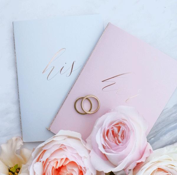 Geloften boekjes Grijs/Roze